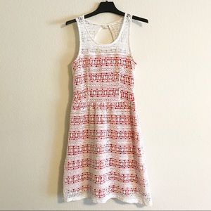 Maison Jules Ivory Coral Crochet Dress small flaw